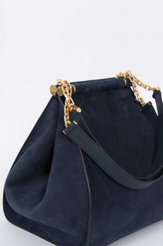 Max Mara-S Shopper aus Wildleder in Navy