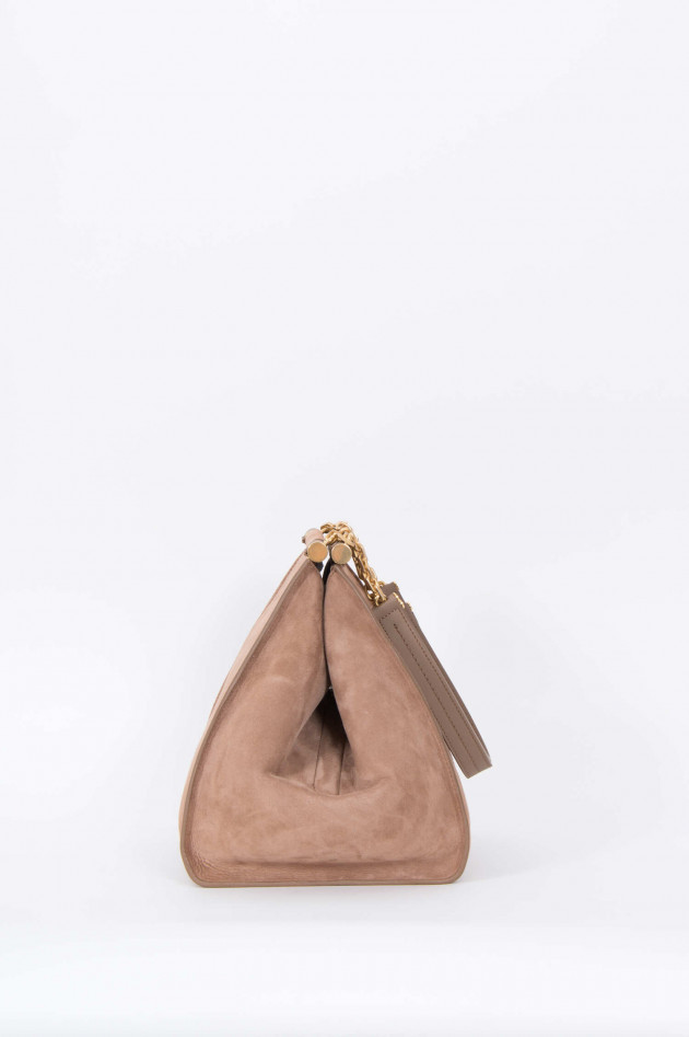 Max Mara-S Shopper aus Wildleder in Beige