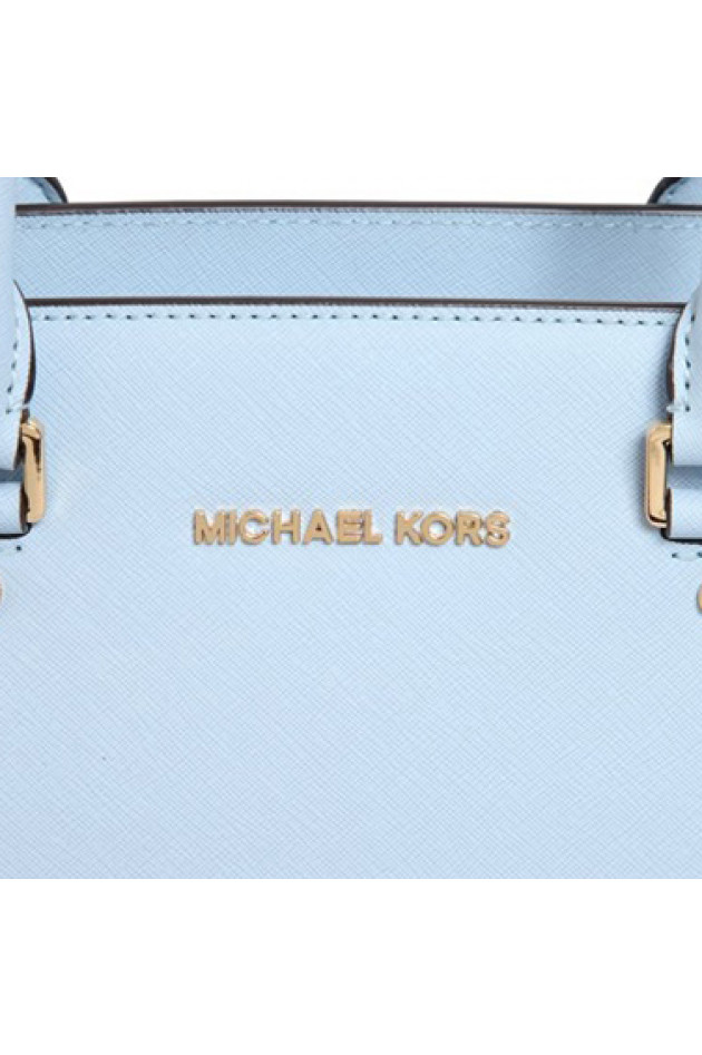 gr ner online shop michael kors tasche selma in hellblau. Black Bedroom Furniture Sets. Home Design Ideas