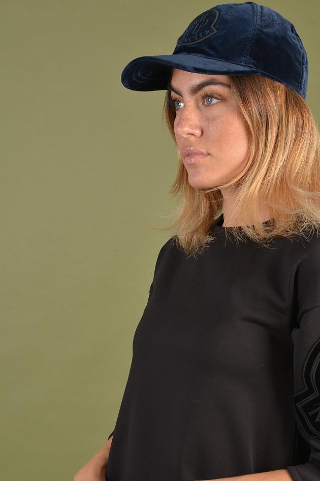 Moncler Schildkappe mit Samtoptik in Navy