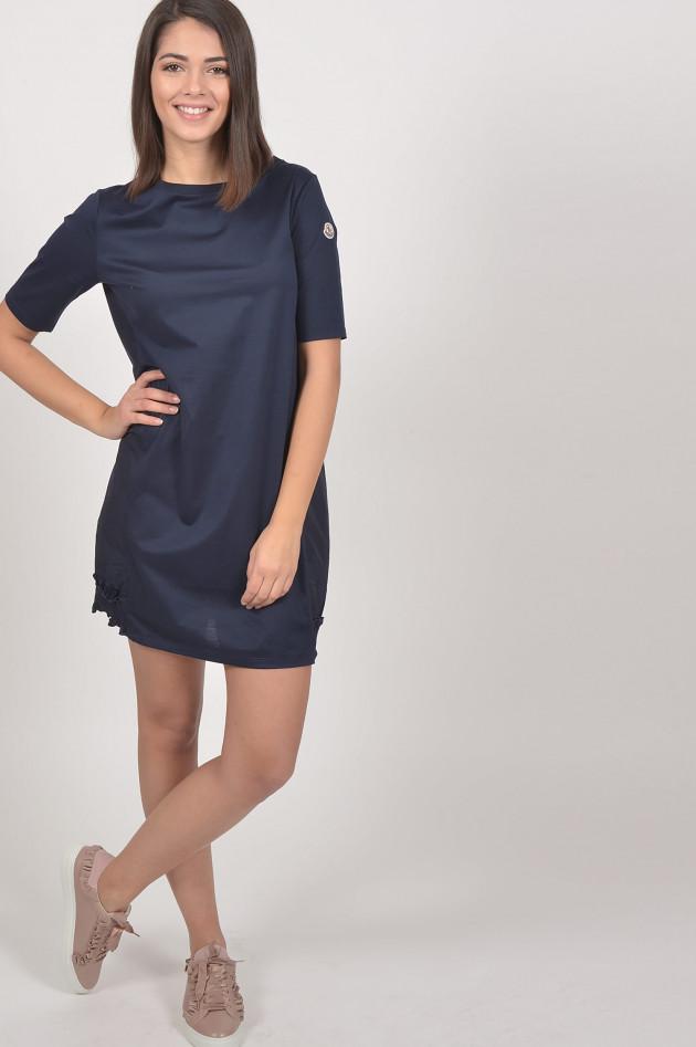 Moncler Kleid mit Rüschen in Navy