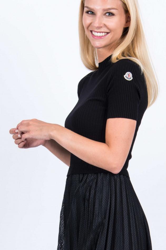 Moncler Plisseekleid in Schwarz