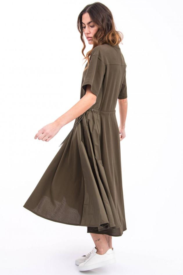 Moncler Kleid mit Taft-Einsätzen in Khaki