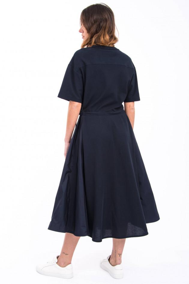 Moncler Kleid mit Taft-Einsätzen in Navy