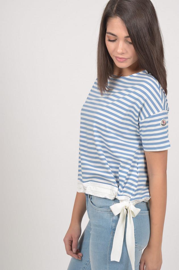 Moncler T-Shirt in Blau/Weiß gestreift