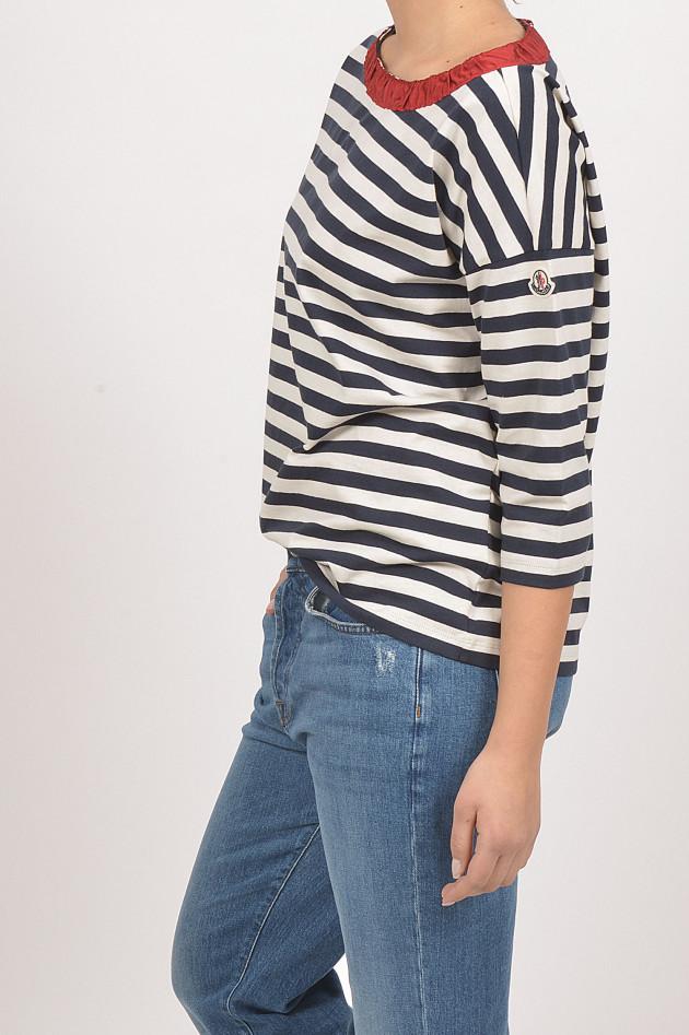 Moncler Shirt in Blau/Weiß gestreift