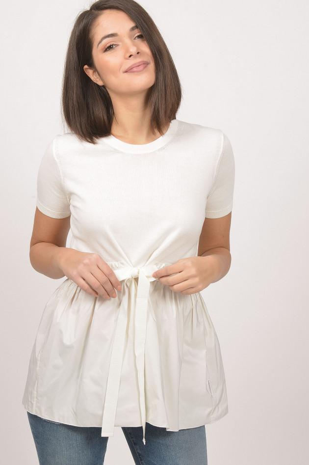 gr ner online shop moncler shirt mit schn rung in wei. Black Bedroom Furniture Sets. Home Design Ideas