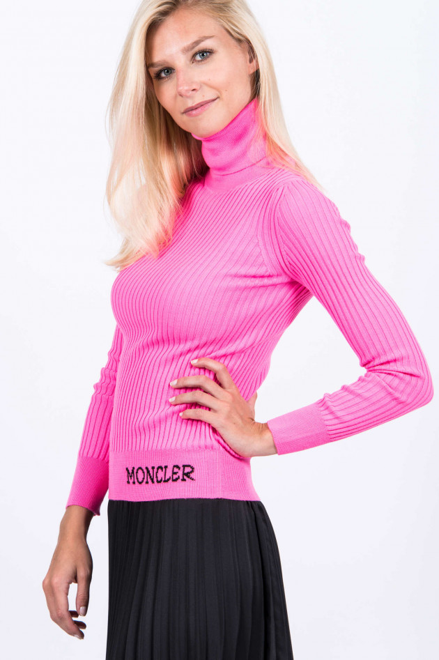 Moncler Rollkragen-Pullover in Neonpink