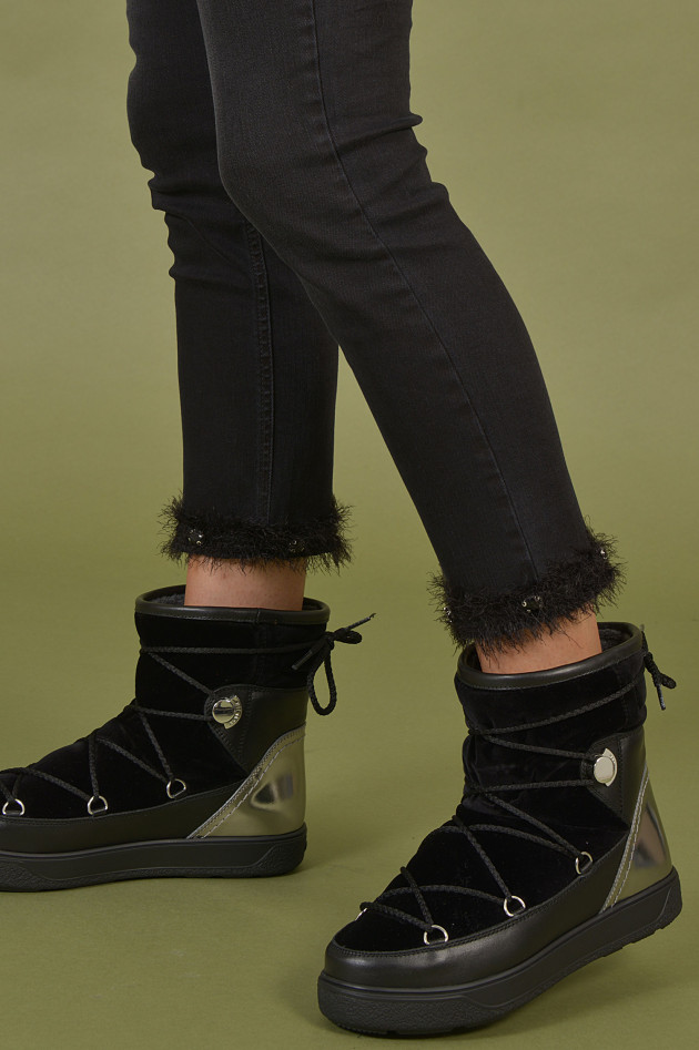 Moncler Boots in Schwarz