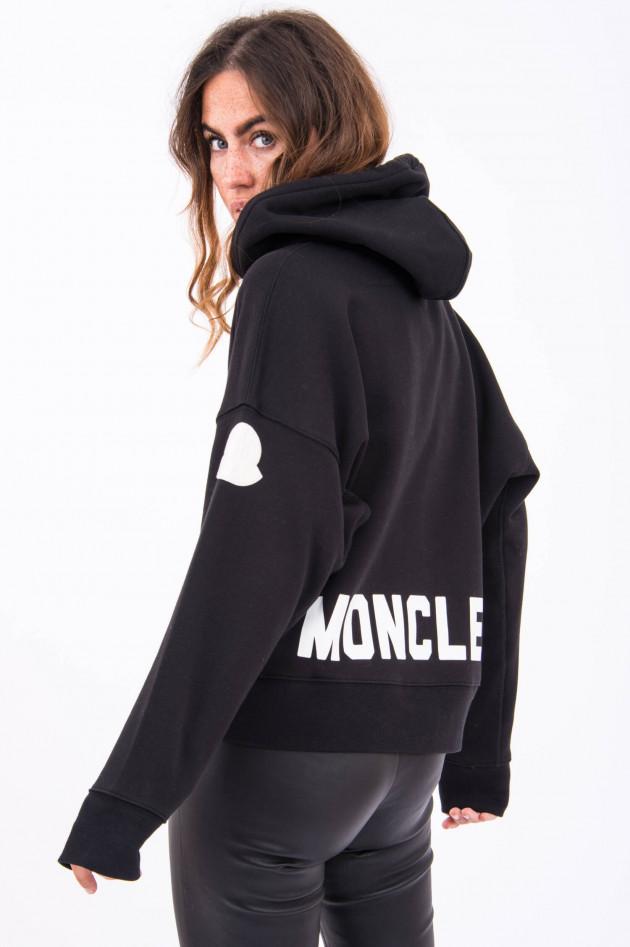 Moncler Hoodie mit Logo-Print in Schwarz/Weiß