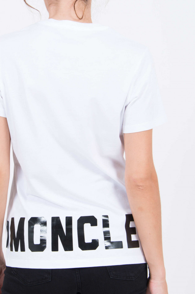 Moncler T-Shirt mit Logoprint in Weiß
