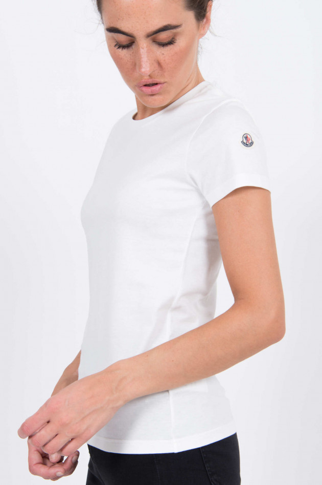 Moncler T-Shirt aus Baumwolle in Natur