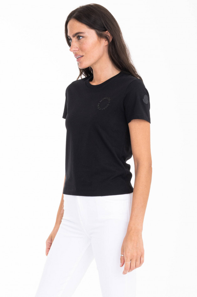 Moncler T-Shirt IT'S MY MONCLER T-SHIRT in Schwarz