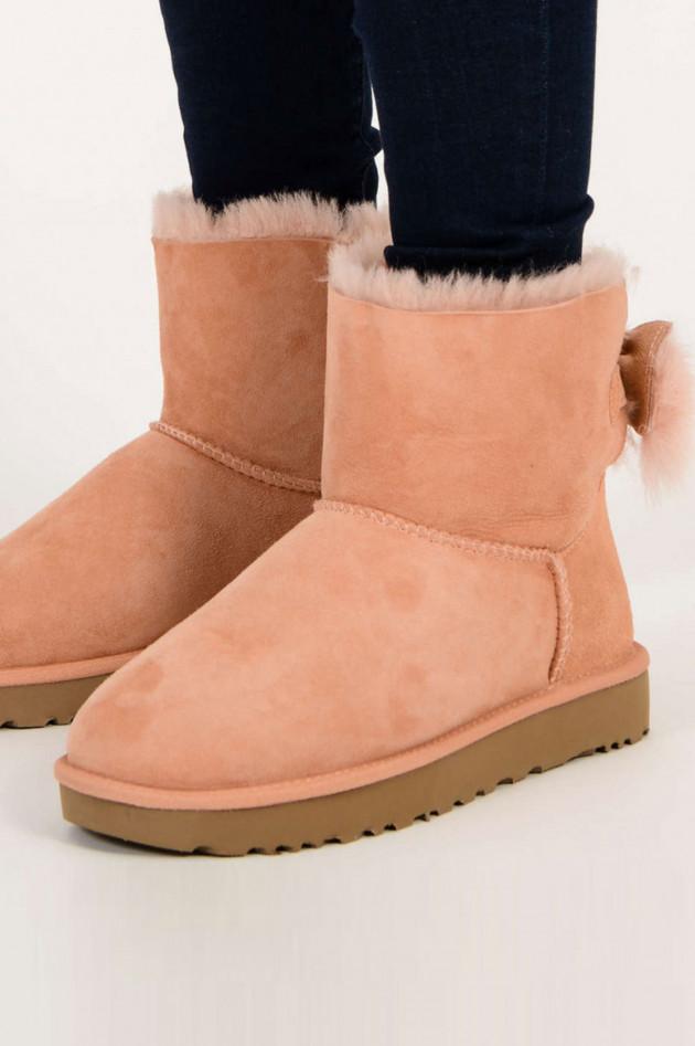 UGG Boots FLUFF BOW MINI CLASSIC Sultan in Pfirsich