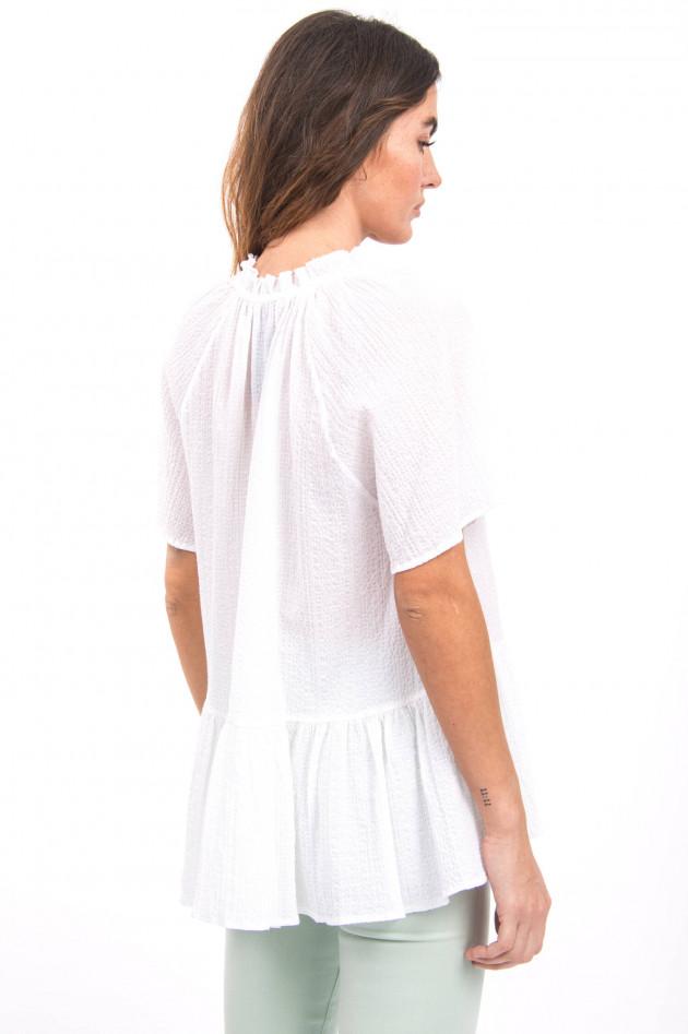 Ottodame Bluse aus Musselin-Stoff in Weiß