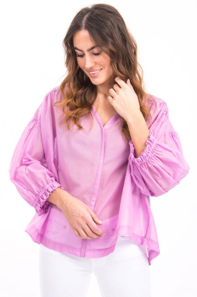 Ottodame Bluse mit Puffarm in Lavendel