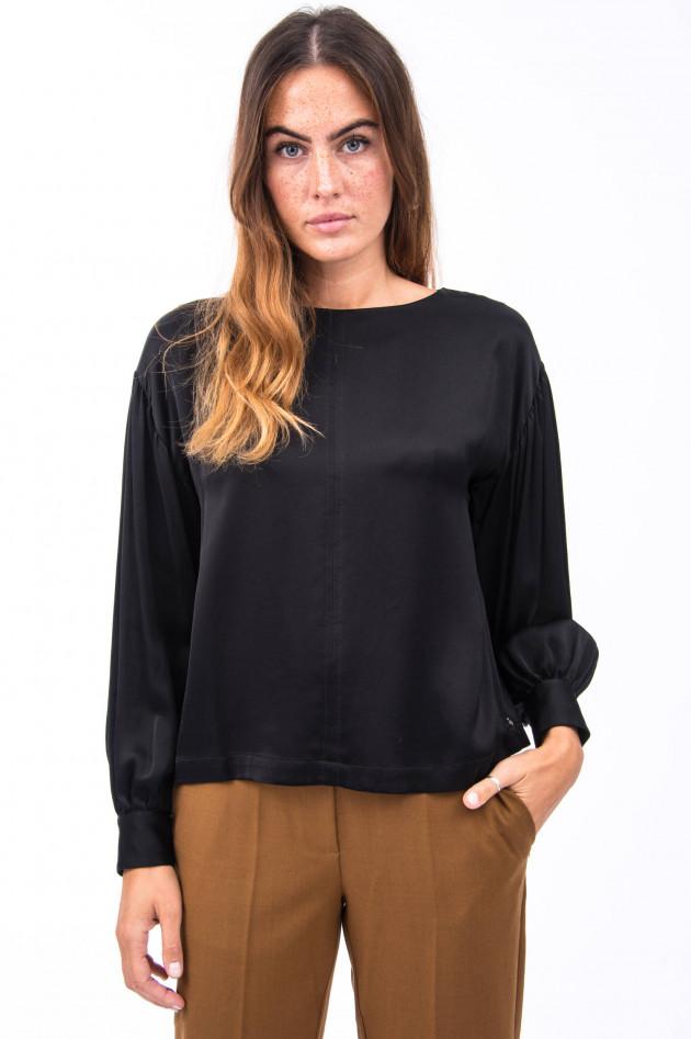 Ottodame Blusenshirt mit voluminösen Ärmeln in Schwarz