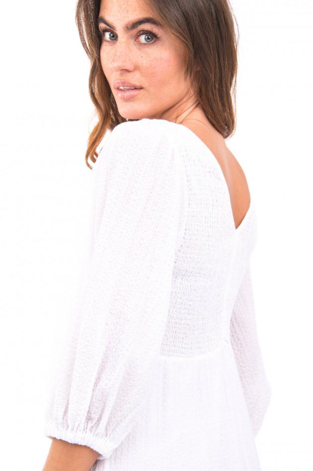 Ottodame Langes Kleid aus Musselin Stoff in Weiß