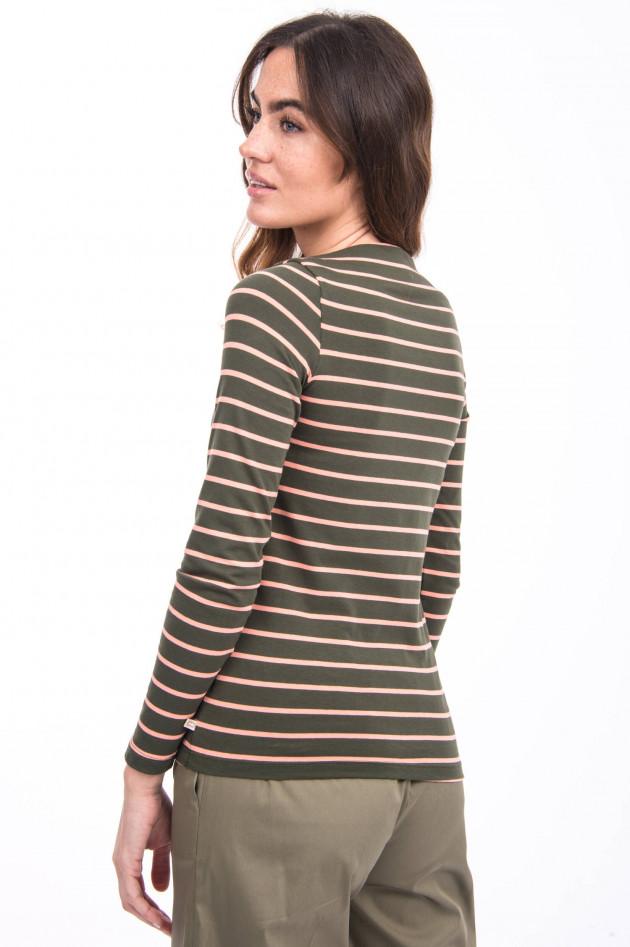 Ottodame Streifen Shirt in Oliv/Rosé