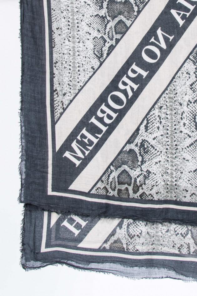 Ottotredici 813 Tuch MAURIZIO in Schwarz/Grau