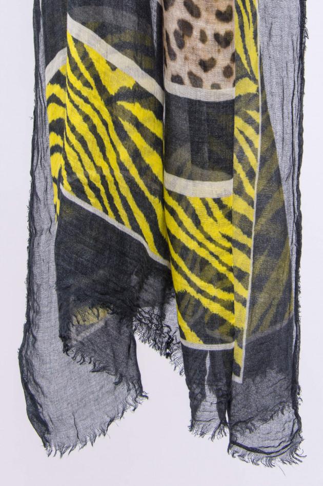 Ottotredici 813 Tuch in Beige/Schwarz/Neon gemustert