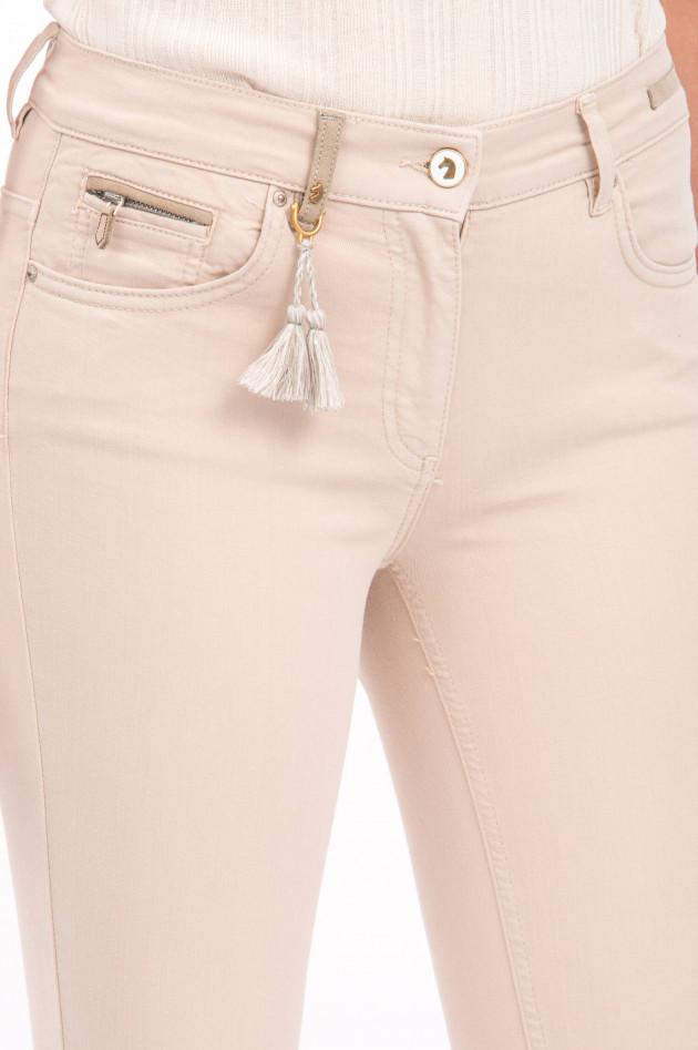 Pamela Henson Jeans CINQ CUT in Beige