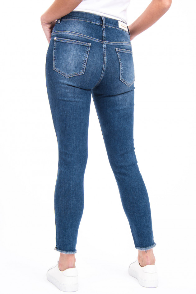Pamela Henson Jeans CINQ CUT in Mittelblau