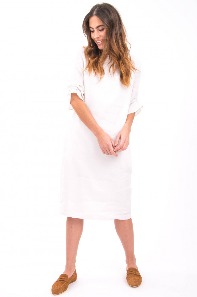 Peserico Kleid mit Schmucksteindetails in Weiß