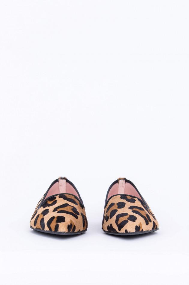 Pretty Ballerinas Loafer im Animal-Print in Braun/Schwarz gemustert