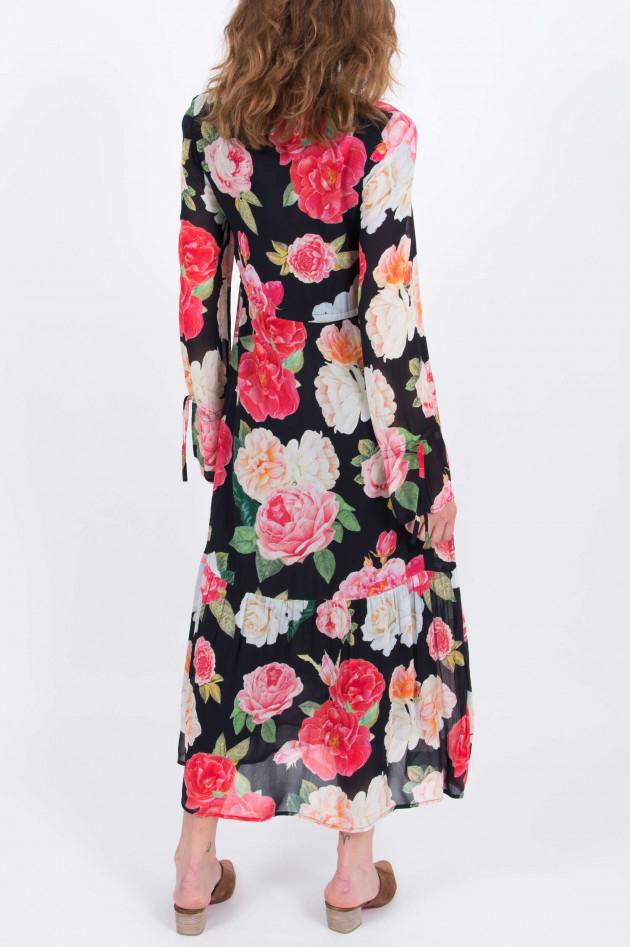 Princess goes Hollywood Kleid mit floralem Print in Schwarz