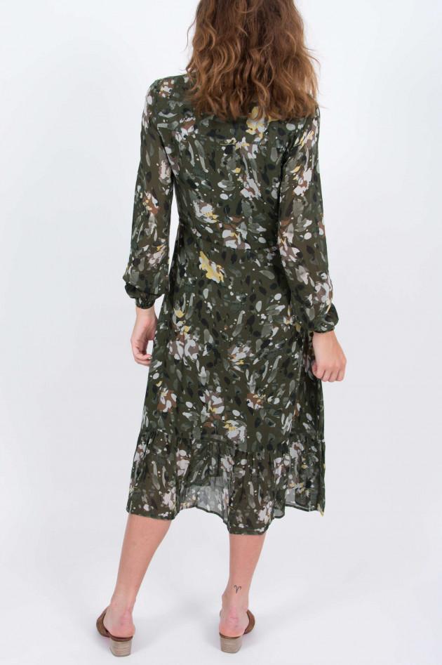 Princess goes Hollywood Kleid mit floralem Print in Oliv