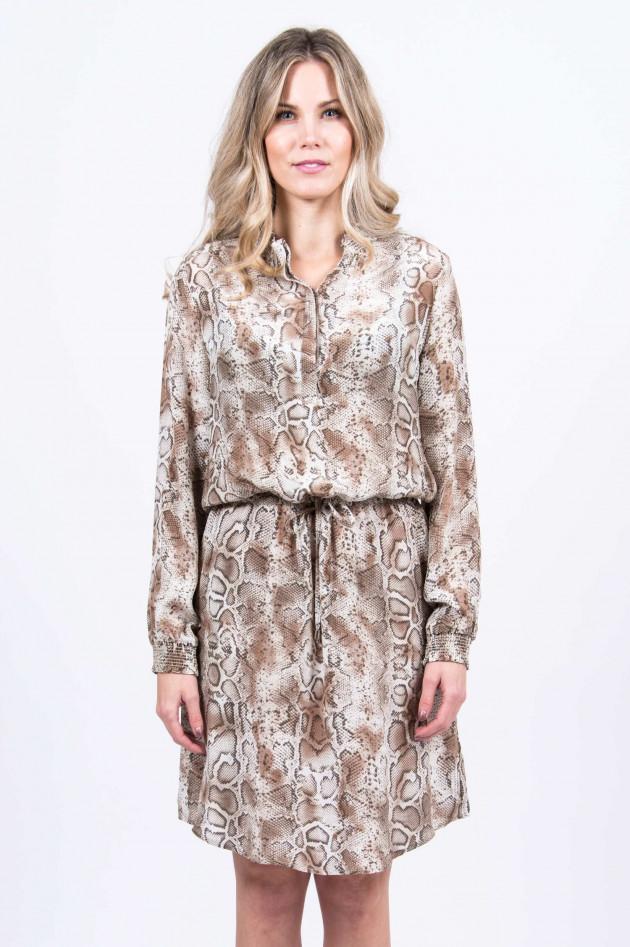 Princess goes Hollywood Kleid mit Schlangen-Print in Beige