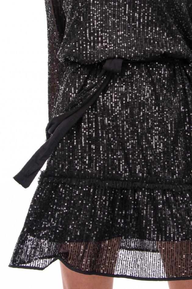 Princess goes Hollywood Kleid mit Pailletten-Besatz in Schwarz