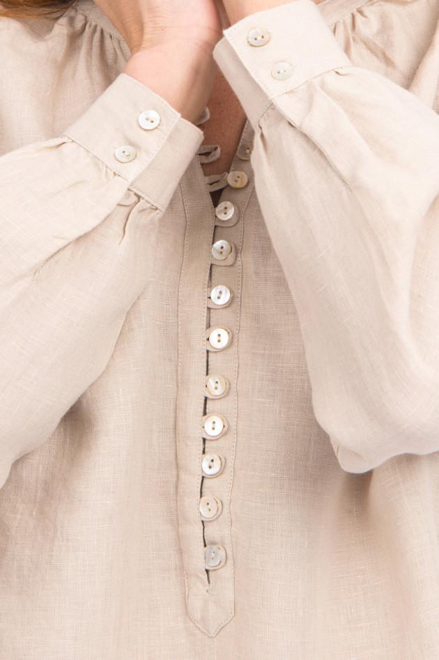 Princess goes Hollywood Leinenkleid mit raffinierter Knopfleiste in Sand