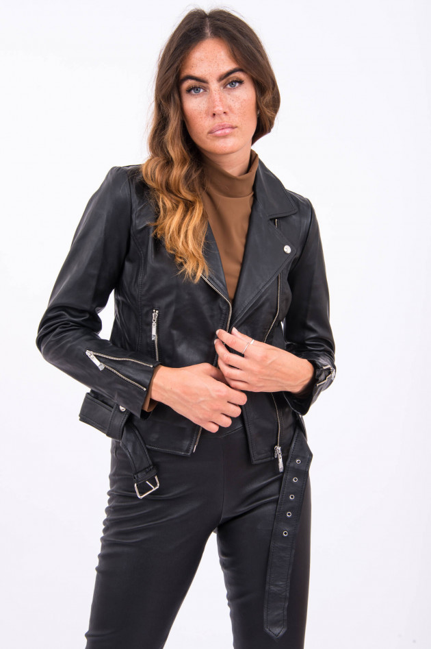Princess goes Hollywood Biker-Lederjacke in Schwarz