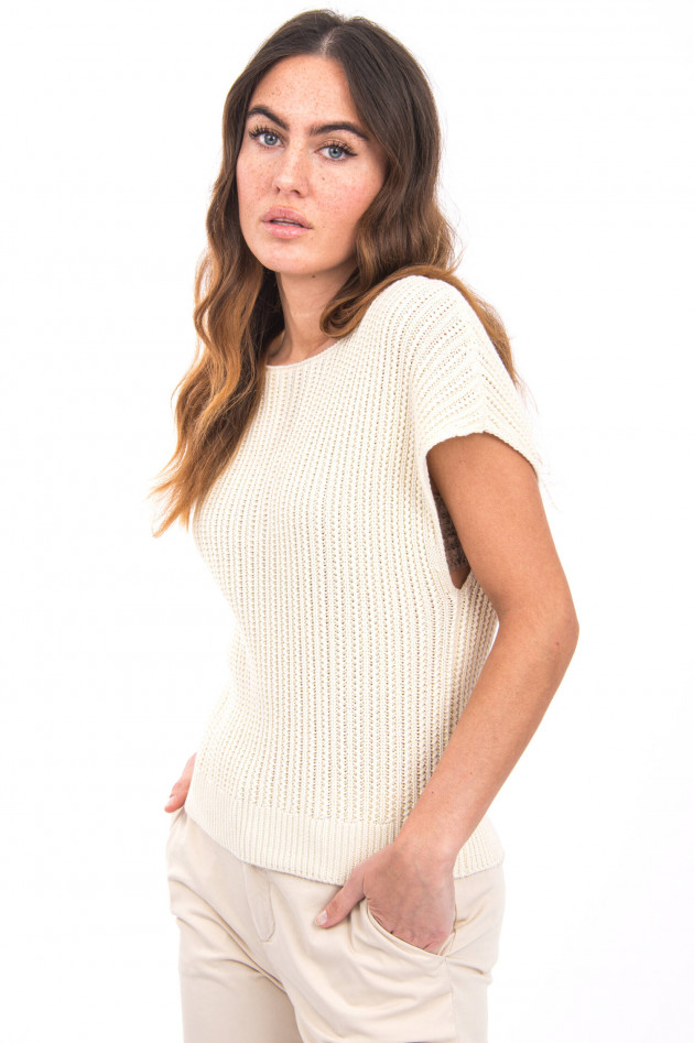 Princess goes Hollywood Strickpullover mit Kurzarm in Creme