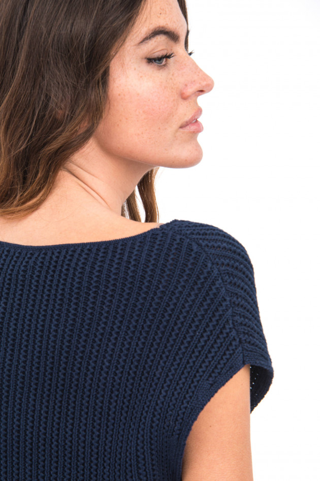 Princess goes Hollywood Kurzarm Strickpullover in Marine