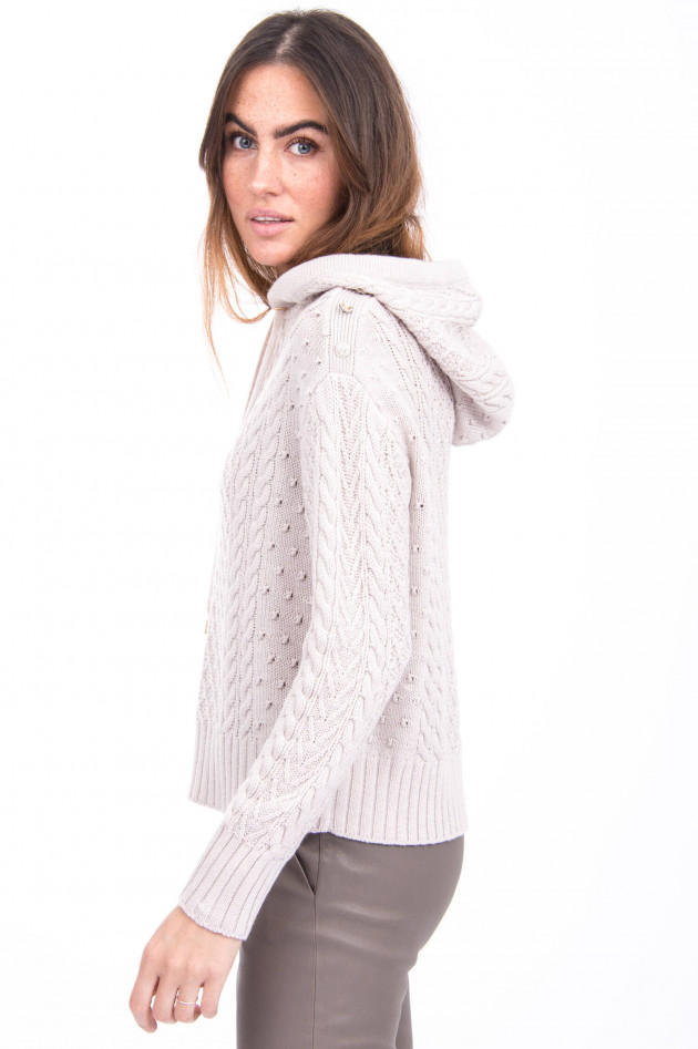 Princess goes Hollywood Woll-Hoodie mit Schuck-Details in Beige
