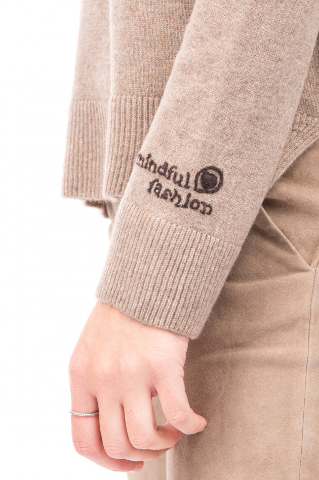 Princess goes Hollywood Kaschmirpullover Save Water.. in Taupe