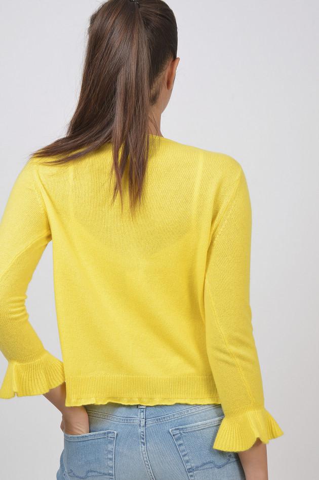 princess goes hollywood strickweste aus cashmere in gelb. Black Bedroom Furniture Sets. Home Design Ideas