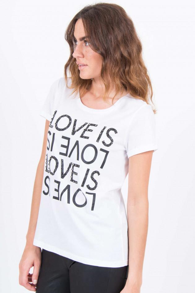 Princess goes Hollywood T-Shirt mit Schriftzg und Dekosteine in Weiß