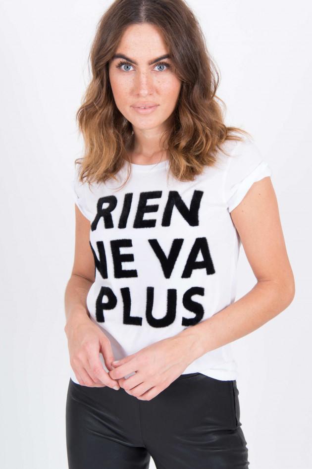 Princess goes Hollywood T-Shirt mit Schriftzug in Weiß/Schwarz