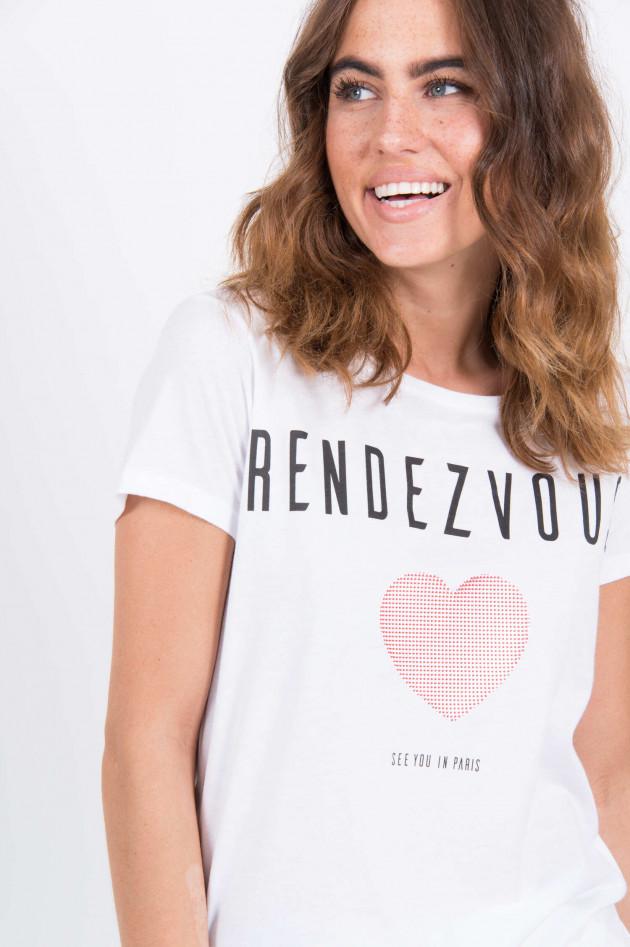 Princess goes Hollywood T-Shirt mit Noppen und Schriftzug in Weiß