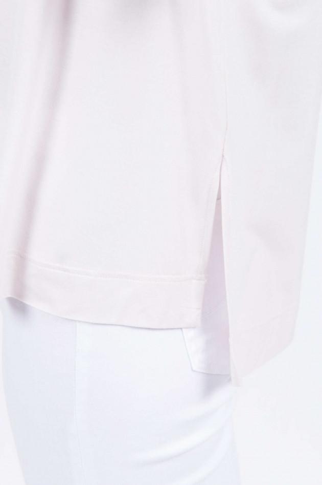 Purotatto Langarmshirt mit Schmuckdetail in Natur
