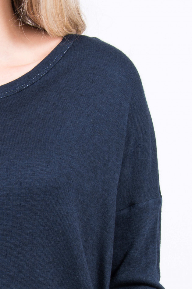 Purotatto Langarm-Shirt in Navy