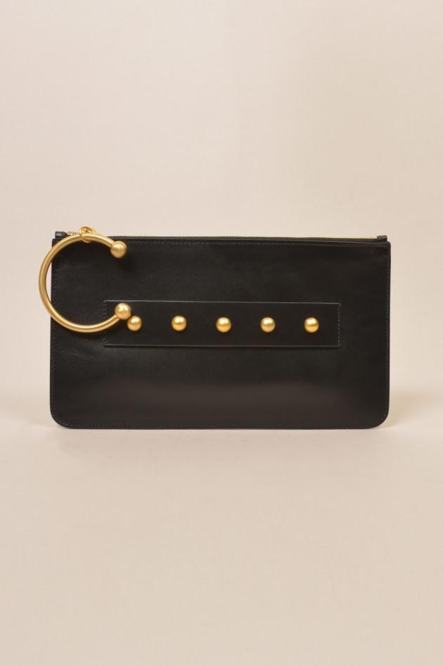 gr ner online shop red valentino tasche in schwarz. Black Bedroom Furniture Sets. Home Design Ideas