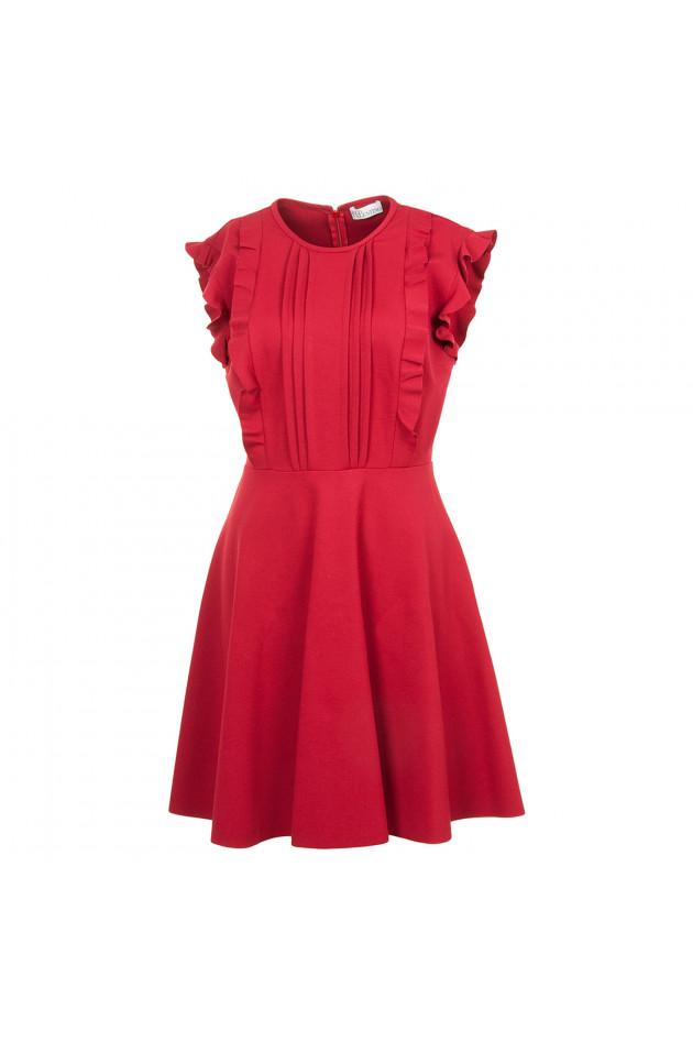 gr ner online shop red valentino kleid in rot. Black Bedroom Furniture Sets. Home Design Ideas