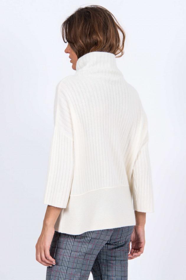 Repeat Pullover mit weitem Kragen in Natur