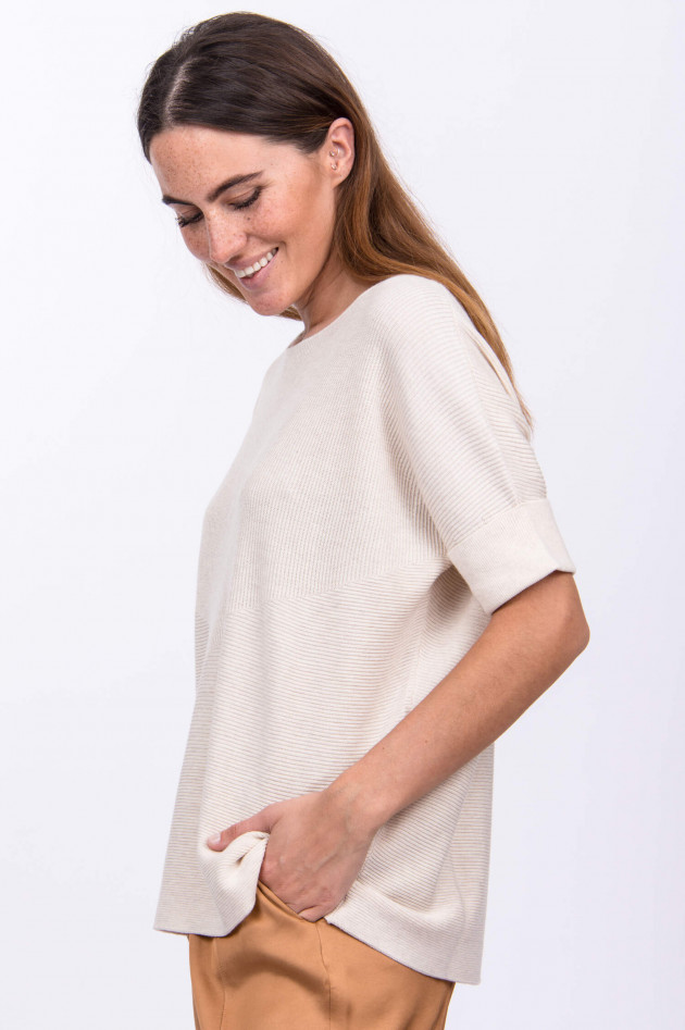 Repeat Poncho-Pullover in Sand