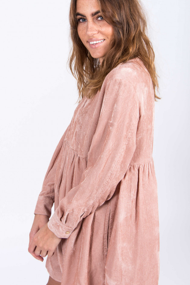 Robert Friedman Feincord Kleid in Rosé